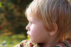 Portret van het kind, sideface Stock Fotografie