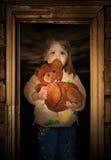 Portret van het kleine meisje Stock Foto's