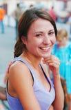 Portret van het lachende meisje Stock Foto's