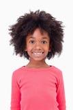 Portret van het leuke meisje glimlachen royalty-vrije stock fotografie