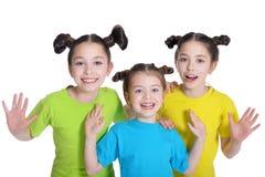 Portret van het leuke meisjes stellen Royalty-vrije Stock Foto