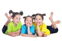 Portret van het leuke meisjes stellen Stock Afbeelding