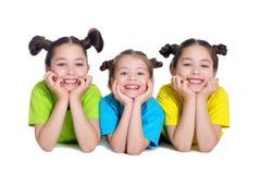 Portret van het leuke meisjes stellen Royalty-vrije Stock Fotografie
