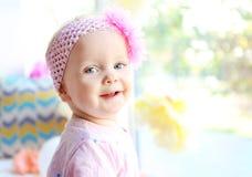 Portret van het meisje van de één éénjarigebaby stock foto's