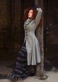Portret van het meisje met rood haar Royalty-vrije Stock Foto