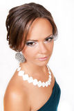 Portret van het meisje in studio Royalty-vrije Stock Foto