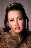 Portret van het meisje in studio Royalty-vrije Stock Foto's