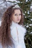 Portret van het Meisje van de Sneeuw Stock Fotografie