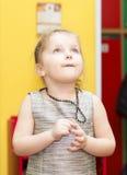 Portret van het meisjesclose-up van vier jaar royalty-vrije stock foto's