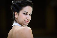 Portret van het model glimlachen Royalty-vrije Stock Afbeeldingen
