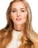 Portret van het mooie blonde meisje Stock Afbeelding
