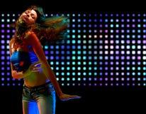 Portret van het mooie dansen Royalty-vrije Stock Afbeeldingen