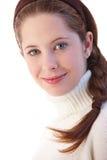 Portret van het mooie jonge meisje glimlachen Stock Fotografie