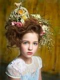 Portret van het mooie kind royalty-vrije stock foto