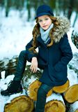 Portret van het mooie kind stock foto's