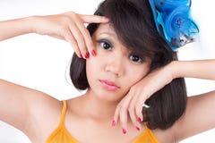 Portret van het mooie meisje Royalty-vrije Stock Foto