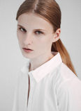 Portret van het rode de test van de haarmannequin schieten Stock Afbeeldingen