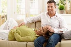 Portret van het verwachten van ouders Royalty-vrije Stock Afbeelding