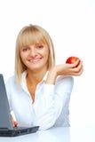 Portret van het vrouwelijke student glimlachen Stock Foto