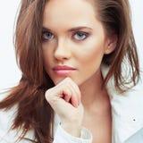 Portret van het vrouwen het mooie gezicht Royalty-vrije Stock Afbeeldingen