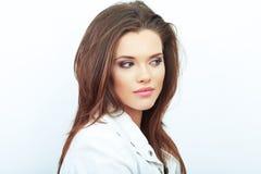 Portret van het vrouwen het mooie gezicht stock fotografie