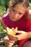 portret van het zorg jonge meisje Stock Foto