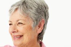 Portret van hogere vrouw stock afbeelding