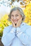 Portret van hogere vrouw Stock Foto's