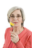 Portret van hogere vrouw Royalty-vrije Stock Foto