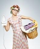 Portret van Huisvrouw Stock Foto's