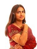 Portret van Indische dame. Stock Afbeelding