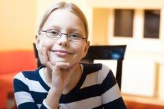 Portret van jaar 9-10 oud schoolmeisje Royalty-vrije Stock Foto