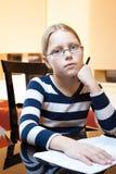 Portret van jaar 9-10 oud schoolmeisje Royalty-vrije Stock Afbeeldingen