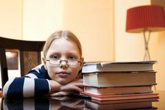 Portret van jaar 9-10 oud schoolmeisje Stock Fotografie