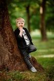 Portret van jong geitjejongen Stock Foto's