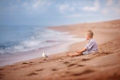 Portret van jong geitjejongen Stock Foto