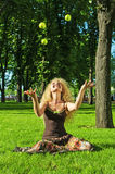 Portret van jong lachend meisje Stock Fotografie