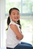 Portret van jong leuk meisje Royalty-vrije Stock Afbeelding