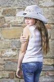 Portret van jong meisje Stock Foto
