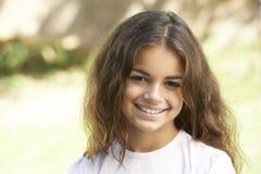 Portret van Jong Meisje in Park stock foto