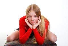 Portret van jong model Stock Afbeelding