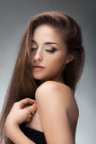 Portret van jong mooi meisje De foto van de manier Royalty-vrije Stock Foto's