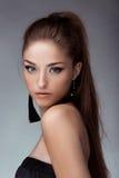 Portret van jong mooi meisje De foto van de manier Royalty-vrije Stock Fotografie