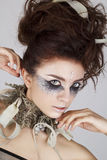 Portret van jong mooi sexy model royalty-vrije stock fotografie