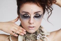 Portret van jong mooi sexy model stock fotografie