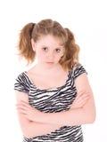 Portret van jong mooi tienermeisje Stock Afbeelding
