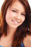Portret van jong tiener donkerbruin meisje stock afbeeldingen