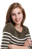 Portret van jong tienermeisje Royalty-vrije Stock Foto's