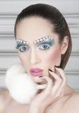 Creatieve make-up headshot Stock Afbeeldingen