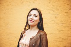 Portret van jonge 25-30 éénjarigenvrouw Stock Foto